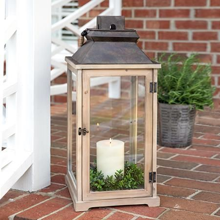 Large Rustic Lantern Over 2 Feet Tall In 2020 Rustic Wood Lanterns Wood Candle Lantern Rustic Lanterns