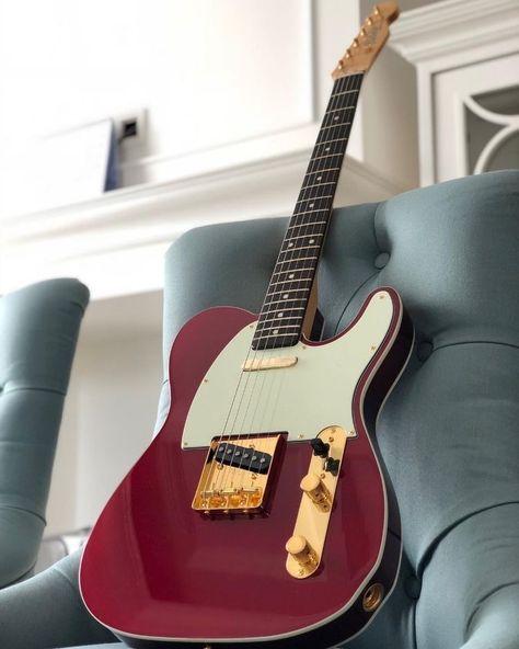 because guitars are the best. Fender Telecaster Mexico, Fender Telecaster Deluxe, Telecaster Bass, Telecaster Custom, Fender Guitars, Fender Electric Guitar, Vintage Electric Guitars, Vintage Guitars, Les Paul Custom