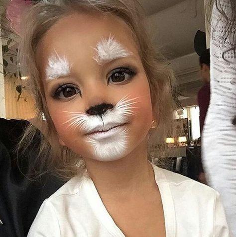 Explore collection of Easter Bunny Face Painting Bunny Face Paint, Easter Face Paint, Bunny Makeup, Kids Makeup, White Rabbit Makeup, Cat Face Makeup, White Face Makeup, Tiger Makeup, Makeup Eyes