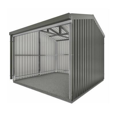 Absco Rural 10 Ft X 10 Ft X 8 Ft Woodland Gray Metal Shed Grays Metal Storage Sheds Metal Shed Shed