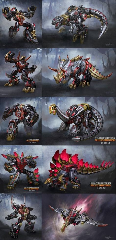 The Dinobots. Oldschool cool. It was a little disappointing that Sludge (Brontosaurus, yes I know they've been discredited as a real dinosaur) was not in the new movie, but it was awesome to see Grimlock, Strafe, Slug, and Spike.