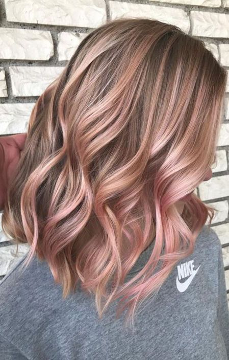 20 Rose Gold Hair Inspiration For You Hair Color Rose Gold Gold