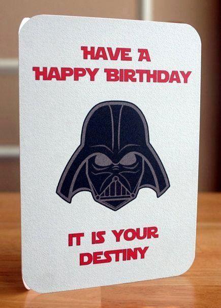 Star Wars Birthday E Cards Harlem Printable Invitations Star Wars Happy Birthday Cool Birthday Cards Birthday Card Printable