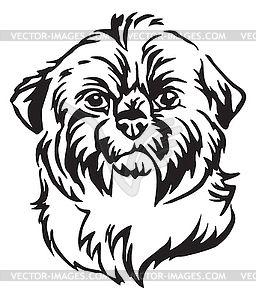 Decorative Portrait Of Dog Shih Tzu Vector Clip Art Bilder Stockfotos Und Vektorgrafiken Shih Tzu Silhouette Australian Shep Dog Line Art Dog Line Dog Vector