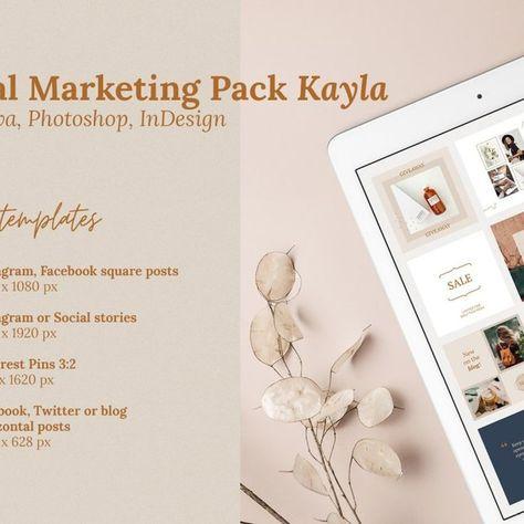 Social Media Bundle K / CANVA, PS