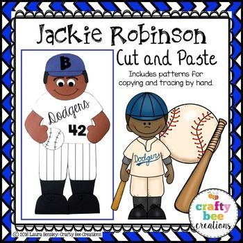 Jackie Robinson Cut and Paste This is a Jackie Robinson craft; great