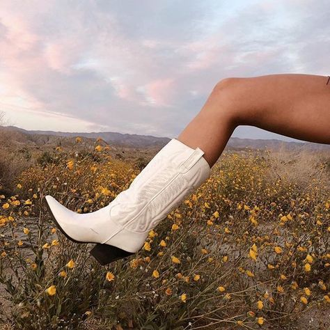 These boots were made for festival szn Make sure to tag for a chance to be featured like thestyledseed xo Shop your festival accessories now shop link in bio Estilo Country, The Stylist La, Easy Style, Botas Western, Western Boots, White Cowboy Boots, Cowboy Boot Outfits, Dresses With Cowboy Boots, Womens Fashion