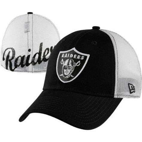 Oakland Raiders New Era 39Thirty Stretch Print Mesh Flex Hat by New ... fb83b6099