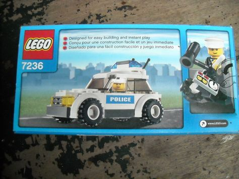 Lego City Police Car 7236 In Sealed Box 59 Pcs Box Not Mint Building Toy Lego Basteln
