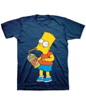 cbf37fd3a94 Bart Simpson Brain Freeze Men s Graphic T-Shirt - Blue XXL ...