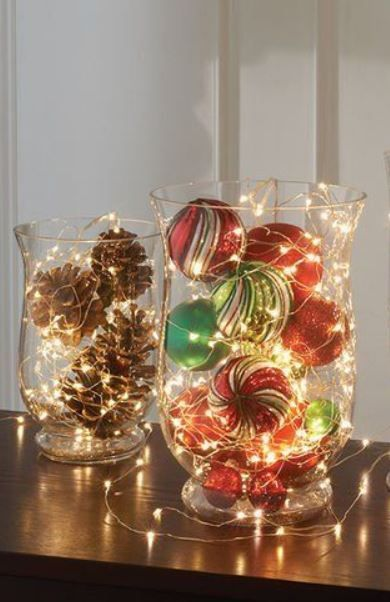 31 Super Cozy Warm Indoor Christmas Lighting Ideas Decorating With Christmas Lights Christmas Centerpieces Christmas Centerpieces Diy