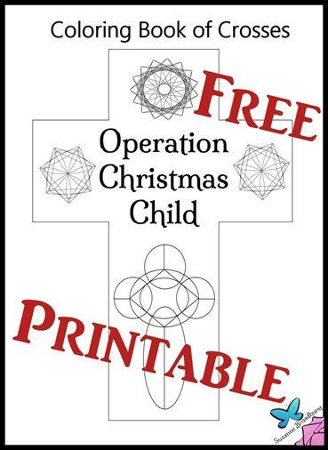 Operation Christmas Child Printables.Free Printable Coloring Book Of Crosses Operation Christmas