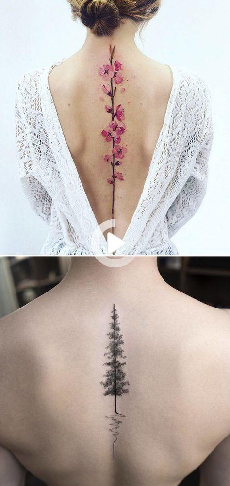 Girl Back Tattoo : tattoo, Trendy, Tattoo-ideeën, Vrouwelijk, Terug, Vrouwen, Check, Https://tatto.husu.…, Spine, Tattoos, Women,, Tattoo, Women, Spine,