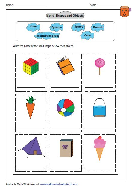 Labeling Shape Name Of The Object Shapes Worksheets 3d Shapes Worksheets Solid Shapes Prisms and pyramids worksheets