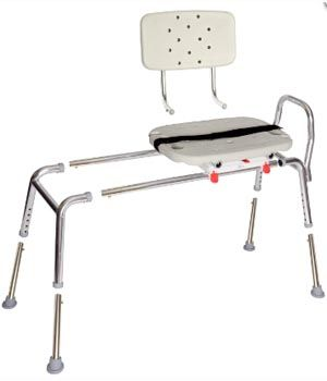 Sliding Transfer Bench with Molded Swivel Seat $241.67 FREE ...