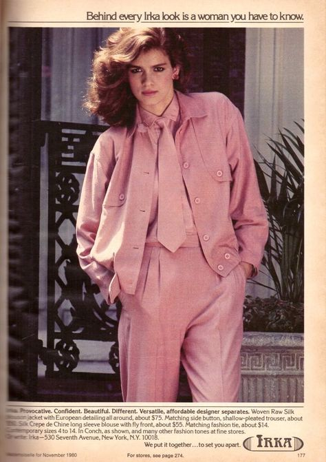 1980 Gia Carangi for Irka Apparel -Rare Print Advertisement