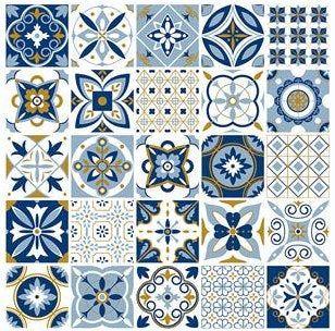 Ornamental Vinyl Tiles Stickers Kitchen Bathroom Diy Sticker Tile 6 Inch T127 Moroccan Pattern Tiles Texture Oriental Pattern