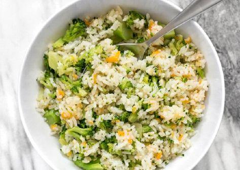 طريقة طبخ البروكلي مع الرز طريقة Recipe Cheesy Broccoli Rice Broccoli Rice Nutritional Yeast Recipes