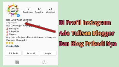 Cara Membuat Tulisan Blog Pribadi Di Profil Instagram Iskandarnote Com Blog Tulisan Instagram