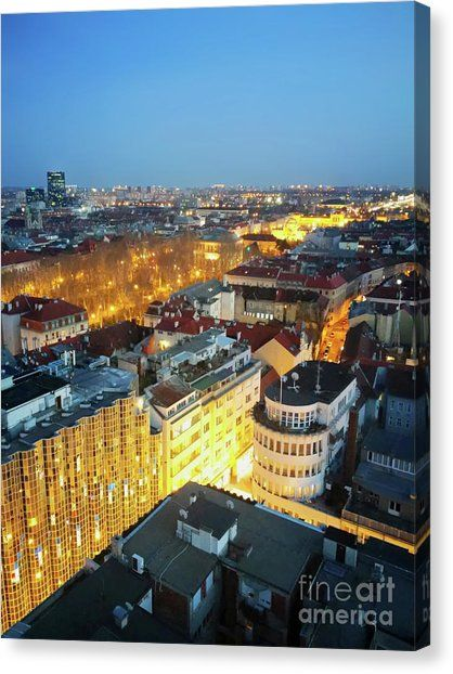 Zagreb At Night 2 Canvas Print Canvas Art By Jasna Dragun Zagreb Canvas Prints Fine Art America