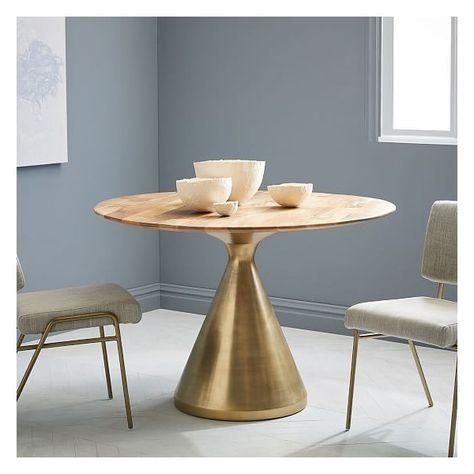 West Elm Silhouette Table 44 Mango Antique Brass 489