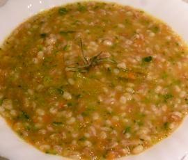 Ricetta Zuppa di orzo farro e verdure bimby