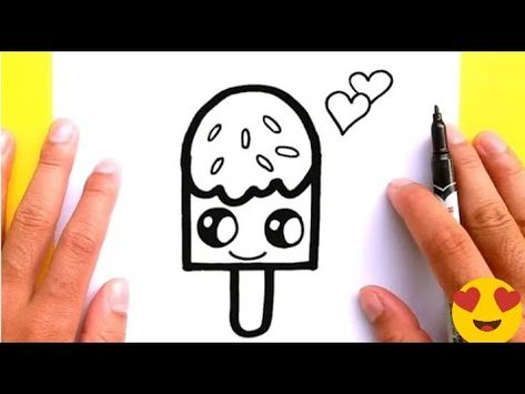 Easy Drawing How To Draw Ice Cream Easy Step By Step Cool Drawings Pencil Sketch Youtube Valentines Day Drawing Cute Drawings Cute Easy Drawings