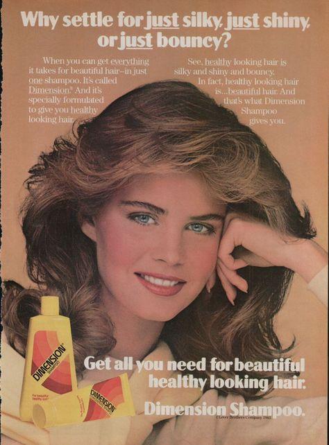 1984 Print Ad Dimension Shampoo Beautiful Healthy Hair www.advintageplus.com