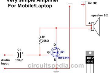This is A very simple and easy circuit of Audio Amplifier using One Mosfet    Audio amplifier, Amplifier, Circuit diagramPinterest
