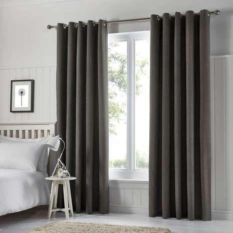 Tyla Graphite Blackout Eyelet Curtains Blackout Eyelet Curtains Curtains Duck Egg Curtains