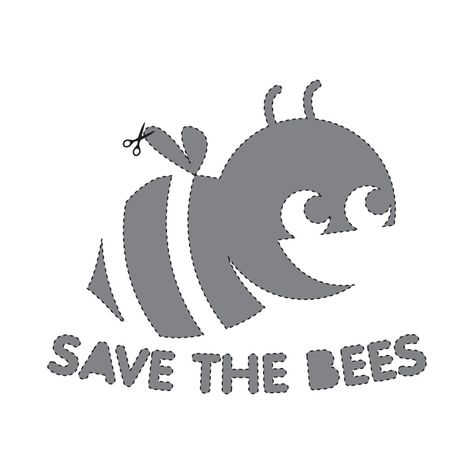 """SAVE THE BEES"" this Halloween! Here's a stencil for your Jack-O-Lantern! #TreatsNoTricks!"