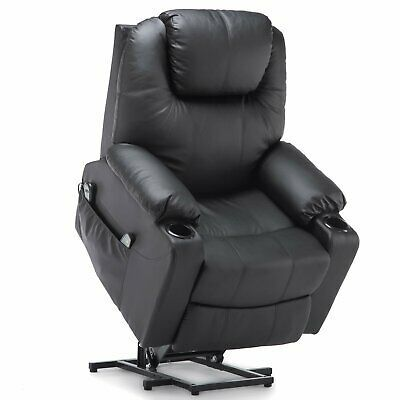 Advertisement Electric Power Lift Recliner Chair Sofa With Massage And Heat For Elderly Black In 2020 Relaxing Chair Chair Recliner Chair