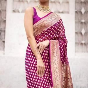 Exclusive Durga puja Zari Work Pure Georgette Chiffon Khadi Banarasi Silk Saree Designer Weaving Fabric Sari Women With Running Blouse Piece