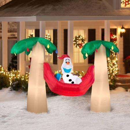 Inflatable Christmas pool decorations