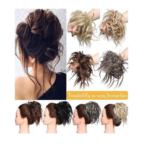 Tousled Updo Messy Bun Hair Piece Hair Extension Ponytail,Romantic Curly Hair Bag,Messy Fluffy Curly