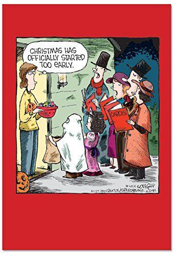 B2528xsg Box Set Of 12 Box Of Halloween Carolers Christmas Cards Funny Christmas Greeting Funny Christmas Greeting Cards Christmas Humor Funny Christmas Cards