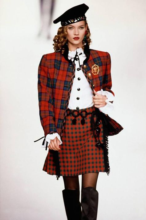 Yves Saint Laurent Collector Red and Green Wool Tartan Jacket image 7