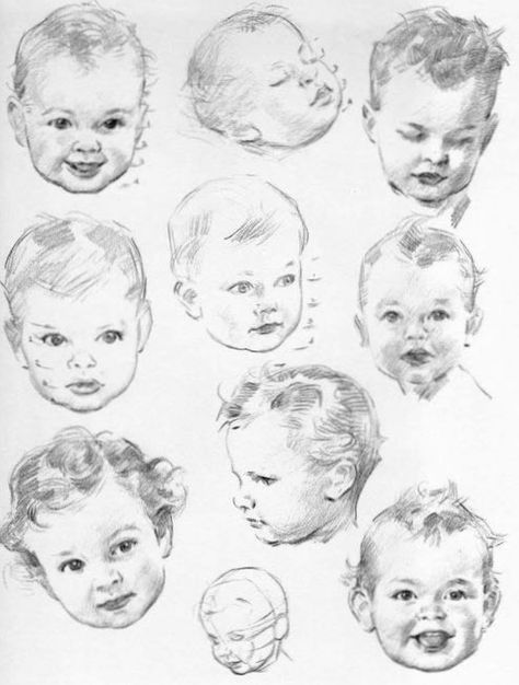 Baby face drawing pinterest baby faces sketches and draw