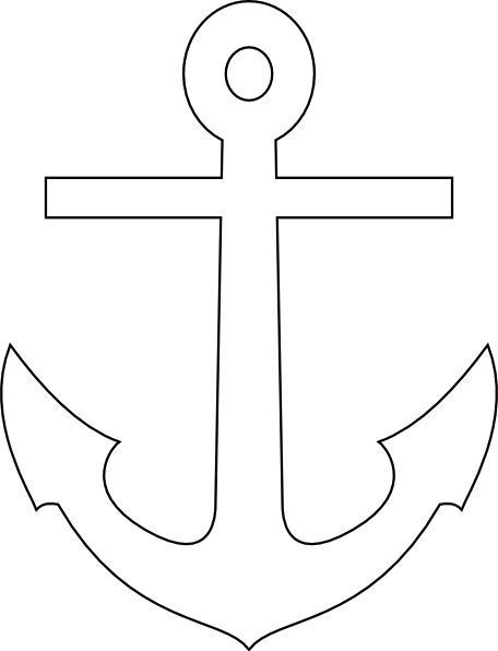 Http Www Clker Com Cliparts L N Q R S D White Anchor Hi Png Nautical Crafts Applique Patterns Silhouette Stencil