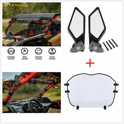 Full Windshield Racing Side Mirrors For Can Am Maverick X3 Max 2017 20 715002898 Ebay In 2020 Can Am Windshield Side Mirror