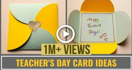 Easy Teachers Day Card Making Idea Diy Teachers Day Cards