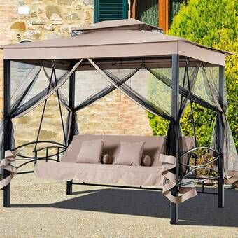 Peggy Daybed Porch Swing With Stand In 2020 Patio Daybed Porch Swing With Stand Patio Swing