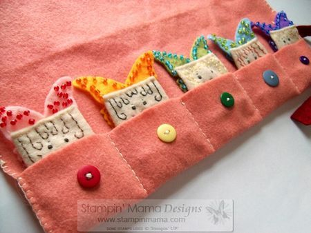 """Felt fairy finger puppets in their own little """"bed"""""""