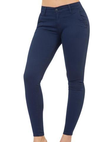 Pantalon Chinos Skinny Cintura Media Base Ajustada Valenciana Super Entubada Marca Oggi Jeans Tipo Pantalon Pantalones Chinos Mujer Oggi Jeans Pantalones