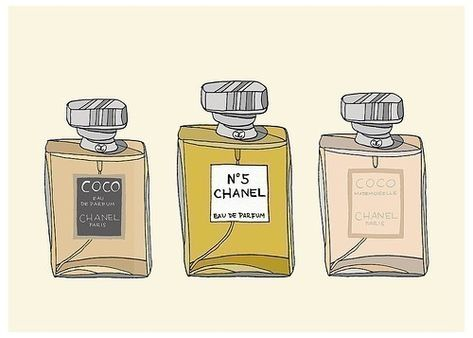 Chanel Perfume Lover Fashion Illustration Art Print B A T H R O O
