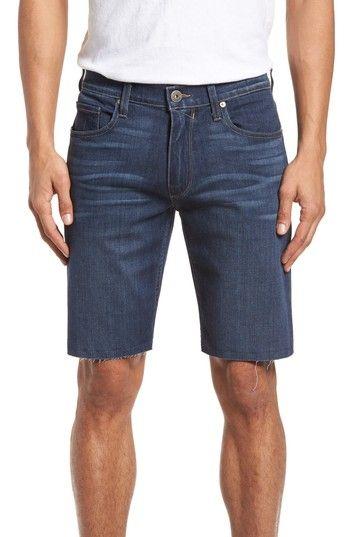 c16b01d60b3 PAIGE TRANSCEND - FEDERAL SLIM STRAIGHT LEG DENIM SHORTS.  paige  cloth