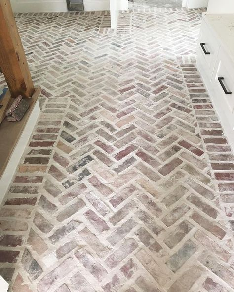 Can you marry brick floors? Because our mudroom floors are in, and I want to mar. - Can you marry brick floors? Because our mudroom floors are in, and I want to marry these stunners. Brick Tiles, Brick Flooring, Kitchen Flooring, Brick Pattern Tile, Brick Floor Kitchen, Brick Patterns Patio, Patio Flooring, Tile Floor Patterns, Brick Look Tile