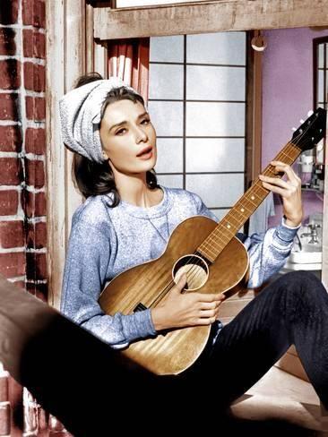 Photo: Breakfast at Tiffany's, Audrey Hepburn, 1961 : 24x18in