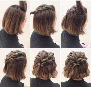 Simple Cute Hairstyle for Short Hair Tutorial #Cute #Hair ...