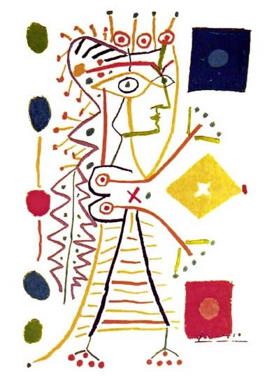 Woman with Dice print by Picasso